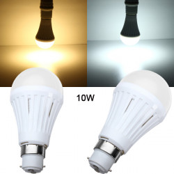 B22 10W SMD 3024 Dimmable Warm White/White LED Light Bulb AC 200-260V