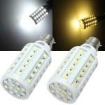 B22 10W SMD 5050 Hvid / Varm Hvid 60 LED Corn Pære AC 110V LED-pærer