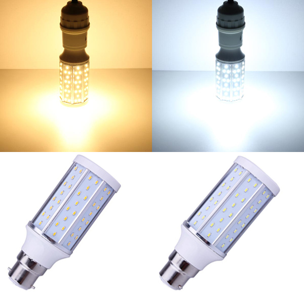 B22 10W Varm Hvid / Hvid 120 SMD 3014 220-240V LED Corn Pære LED-pærer