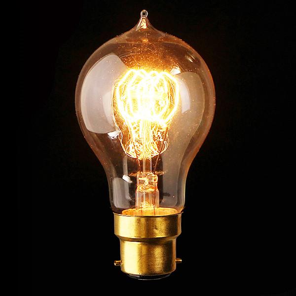 B22 110V / 220V 40W A19 23 Anchors Edison Glühfaden Glühlampe LED Lampen