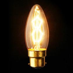 B22 110V / 220V 40W Candle Vintage Edison Filament Glödlampa