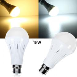 B22 15W SMD 3024 Dimbar Varmvit / Vit LED-lampa AC 200-260V