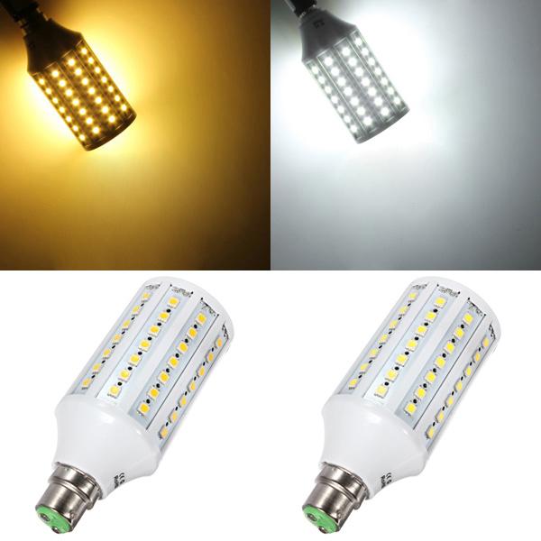 B22 15W Hvid / Varm Hvid 5050SMD 86 LED Sparepære Corn Pære 110V LED-pærer