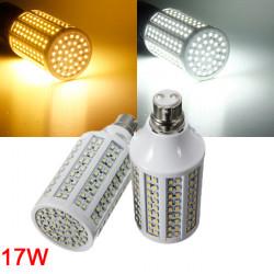 B22 17W White/Warm White 3528 SMD 216 LED Corn Light Lamp Bulbs 220V