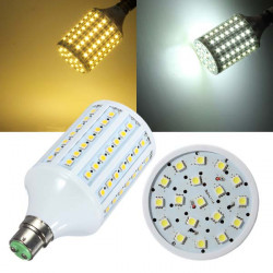 B22 18W LED 220V 102 SMD 5050 White/Warm White LED Corn Light Bulb