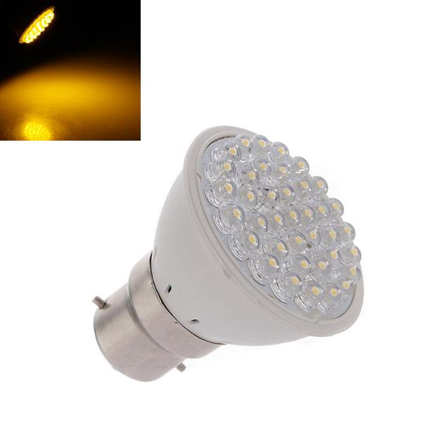 B22 2,5 W 160LM Varm Hvid 38 LED Spotlampe Pære 110-240V LED-pærer