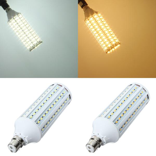 B22 30W Vit / Varmvit 132LED SMD5630 LED Glödlampa 220V LED-lampor