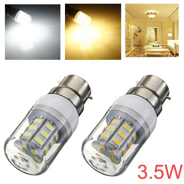 B22 3,5 W 420LM 27 SMD 5730 AC 220V Hvid / Varm Hvid LED Corn Pærer LED-pærer