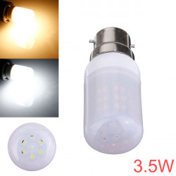 B22 3.5W 48 SMD 3528 AC 220V LED Lampa med Frosted Cover