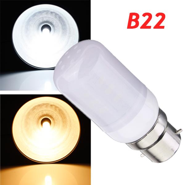 B22 3,5 W Hvid / Varm Hvid 380LM 5730SMD 24 LED Corn Pærer 220V LED-pærer