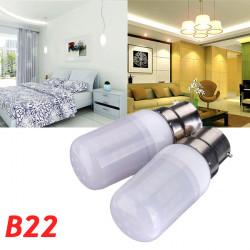 B22 3.5W Vit / Varmvit 420LM 5730SMD LED Corn Lampa AC 12V