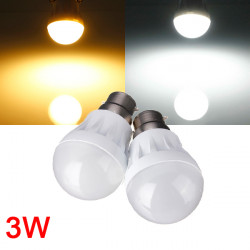 B22 3W 9LED 3014 SMD Globe Bulb Light Lamp White/Warm White 220-240V