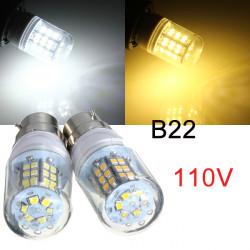 B22 3W Varm Hvid / Hvid 48 LED 2835 SMD LED Corn Pære Lampe 110V
