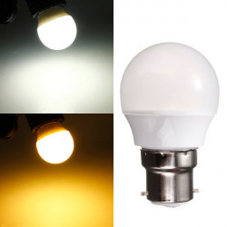 B22 3W warmes Weiß / Weiß 220V AC 8 SMD 2835 LED Kugel Glühlampe