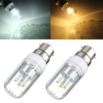 B22 3W Vit / Varmvit 180-300LM 5730 SMD LED-ljus Corn Lampa 85-265V LED-lampor