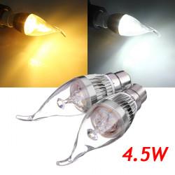 B22 4.5W 500 550LM weiße / warme weiße LED Kerze Glühlampe 85 265V