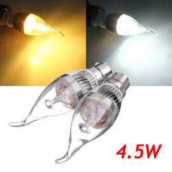 B22 4.5W 800-850lm White/Warm White 3LED Candle Bulb 85-265V