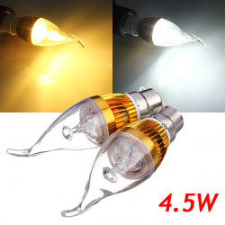B22 4.5W 800-850lm White/Warm White 3LED Candle Bulb Golden 85-265V