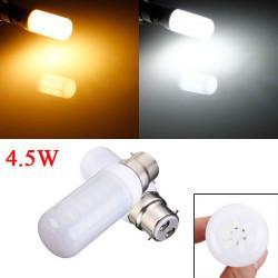 B22 4.5W Vit / Varmvit 5730 SMD LED Ivory Ljus Corn Lampa 110V