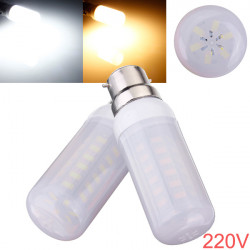 B22 5W 48 SMD 5730 AC 220V LED Corn Light Bulbs With Frosted Cover
