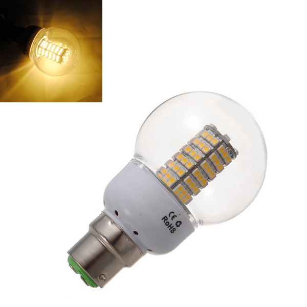 B22 5W Warm White 120 SMD 3528 SinglyFire LED Bulbs AC 85V-265V LED Light Bulbs