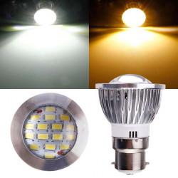 B22 6W AC 220V 16 SMD 5630 White/Warm White LED Spot Light Bulbs