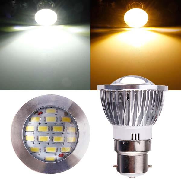 B22 6W AC 220V 16 SMD 5630 Vit / Varmvit LED Spotlight LED-lampor