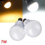 B22 7W 27LED 3014 SMD Globe Lampa Vit / Varmvit 220-240V LED-lampor