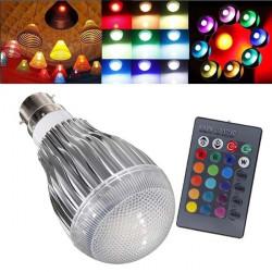 B22 9W RGB AC 85-265V LED Magic Ljus Lampa med IR Fjärrkontroll
