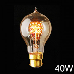 B22 A19 110V / 220V 40W Jahrgang Edison Stil Filament Glasbirne