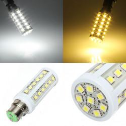 B22 LED 7W Hvid / Varm Hvid 44 5050SMD LED Corn Lampe Pære 220V