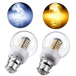 B22 LED-lampa 5W 102 SMD 3528 220V Varmvit / Vit med Ball Cover