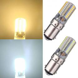 BA15D 2.6W 64 3014 SMD LED Licht Lampe Ampulle Silikon Mais Birnen 220V