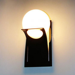Kurze Moderne runde Kugel Glastreppen Balkon Wandleuchte Schlafzimmer Lampen