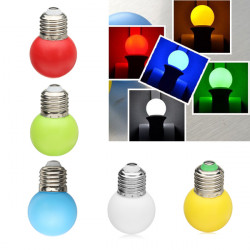 Color E27 1W LED Light Bulb Decoration Lamp Energy Saving AC 220V
