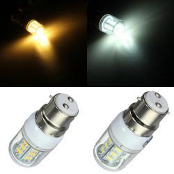 Dimbar B22 3W Vit / Varmvit SMD5730 24 LED Lampa 220V