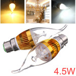 Dimmable B22 4.5W White/Warm White LED Chandelier Candle Light Bulb LED Light Bulbs