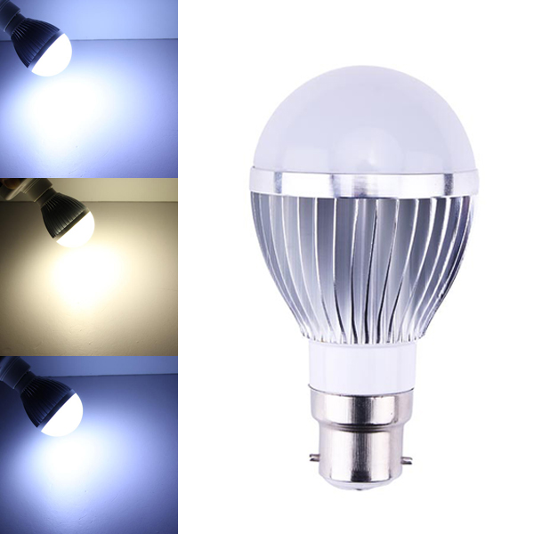 Dimmable B22 5W White/Warm White 5 LED Bulbs AC 85-260V LED Light Bulbs