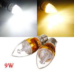 Dimmbare B22 9W Weiß / Warm White 3LED Goldene Kerze Birnen 220V