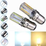 Dæmpbar BA15d 3W Hvid / Varm Hvid 3014SMD LED Pære Silikone 110-120V LED-pærer