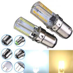 Dimbar BA15d 3W Vit / Varmvit 3014SMD LED-lampa Silikon 220-240V