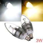 Dimbar E12 3W AC 220V Vit / Varmvit LED Ljuskrona Ljus Lampa LED-lampor