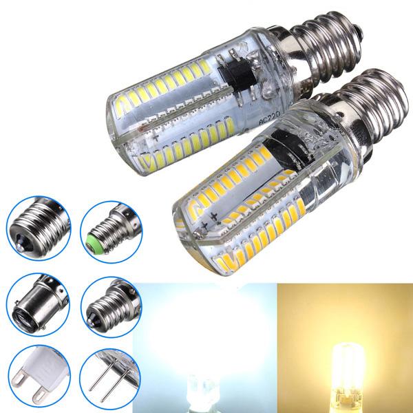 Dimmbare E12 3W weiße / warme weiße 3014SMD LED Birnen Silikon 220 240V LED Lampen