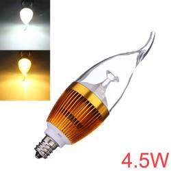 Dimbar E12 4.5W Vit / Varmvit LED Ljuskrona Candle Light Bulb