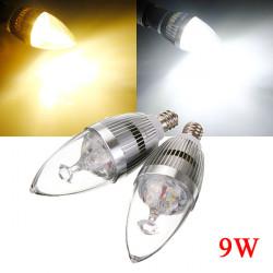 Dimbar E12 9W 3 LED Vit / Varmvit LED Candle Ljus Lampa 220V