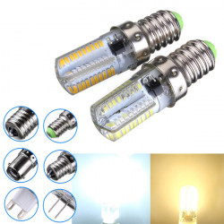 Dimbar E14 3W Vit / Varmvit 3014SMD LED-lampa Silikon 220-240V