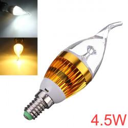 Dimbar E14 4.5W Vit / Varmvit LED Ljuskrona Candle Light Bulb