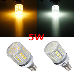 Dimmbare E14 5W Weiß / Warm White 5050 SMD 27 LED Mais Glühlampe 220V