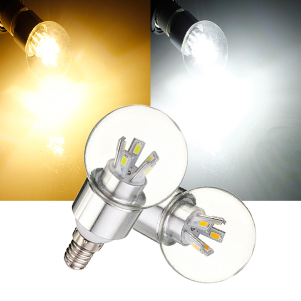 Dimmable E14 8W 5630 SMD Glass 10 LED Globe Bulb Light AC 110-240V LED Light Bulbs
