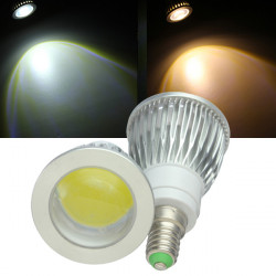 Dimmbare E14 LED Leuchtmittel 5W COB 220V Warm White / White Spot Licht